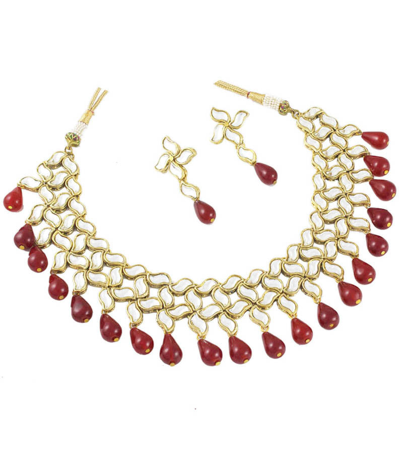 Red Kundan Necklace