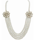 Jasmine Kundan and Pearl Long Necklace