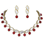 Red Onyx Kundan Necklace Set