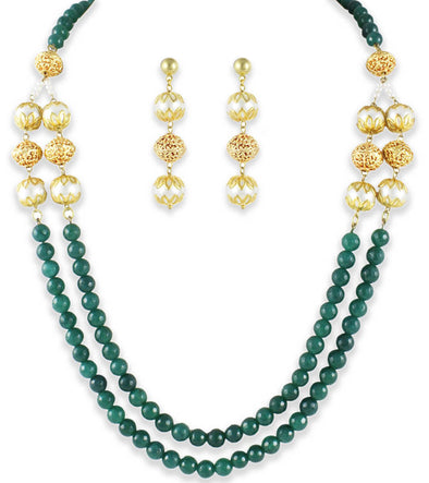 Mia collection Kundan Rani Haar Traditional Necklace Set