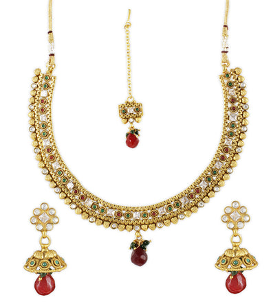 Karatcart 22K Gold Forming Traditional Necklace Set