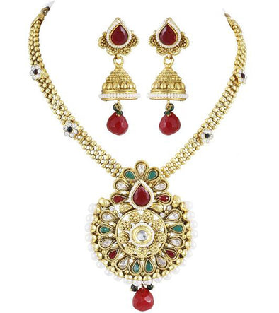 Karatcart 22K Gold Forming Traditional Necklace Sets