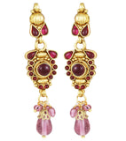 22K Goldplated Pink Traditional Jewellery Set