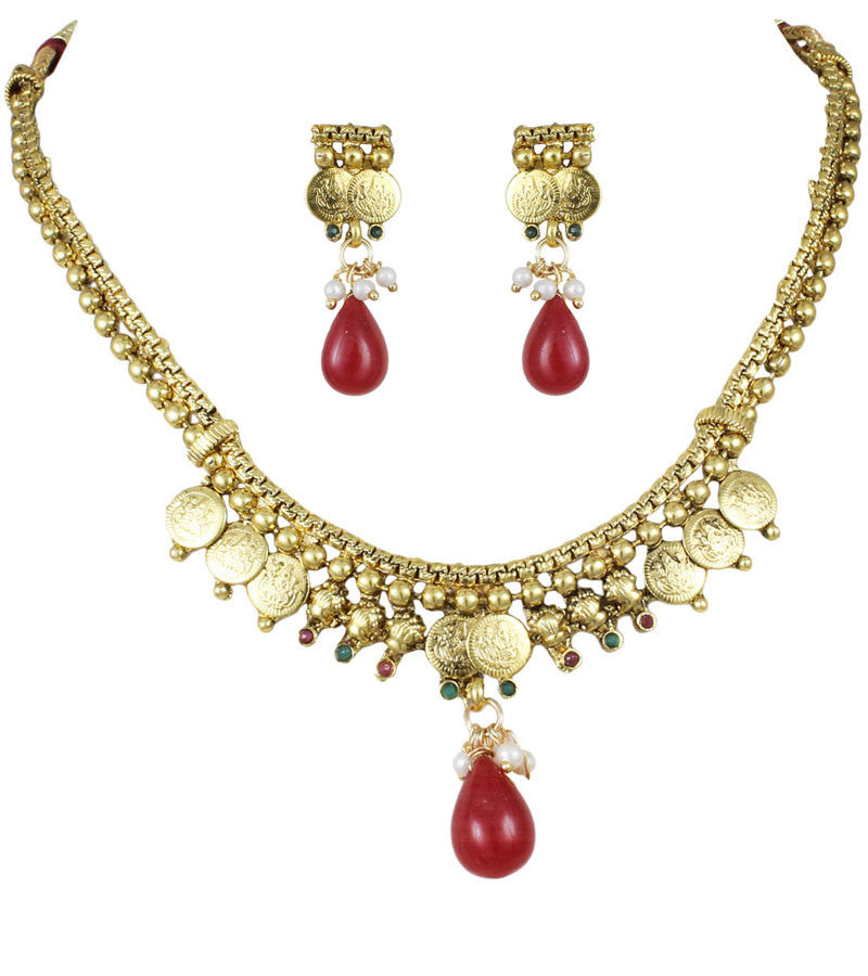 Karatcart 22K Goldplated Traditional Jewellery Set | Buy ...