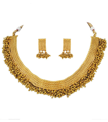 Karatcart 22K Goldplated Traditional Jewellery Set For Women