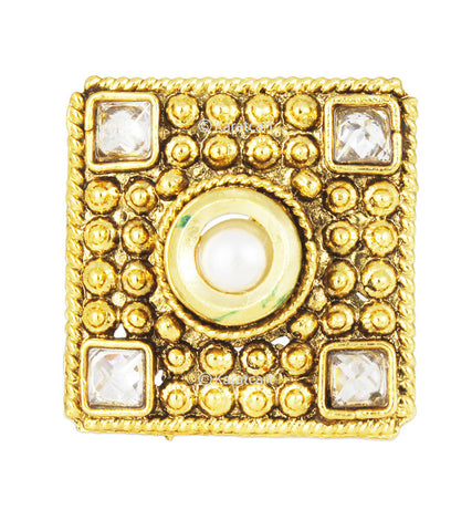 Karatcart 22K GoldPlated Traditional Cocktail Ring For Women