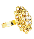 Karatcart 22K GoldPlated Traditional Cocktail Ring
