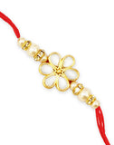 GoldPlated Kundan Rakhi For Brother.