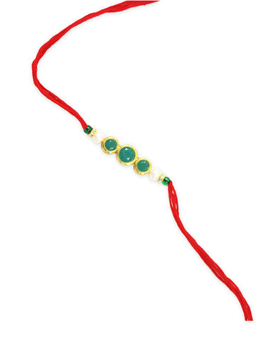 GoldPlated Kundan Rakhi For Brother
