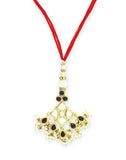 GoldPlated Kundan Rakhi for Bhabhi