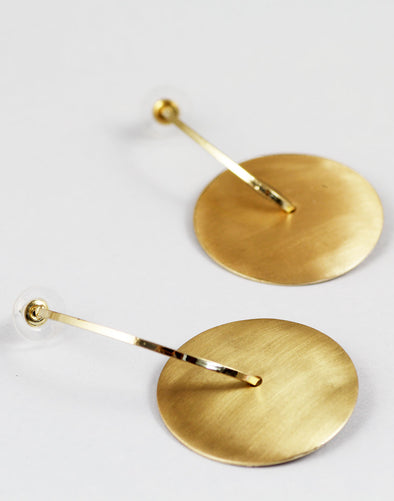 Gold Metal Texture Light Weighted Geometric Drop Earrings