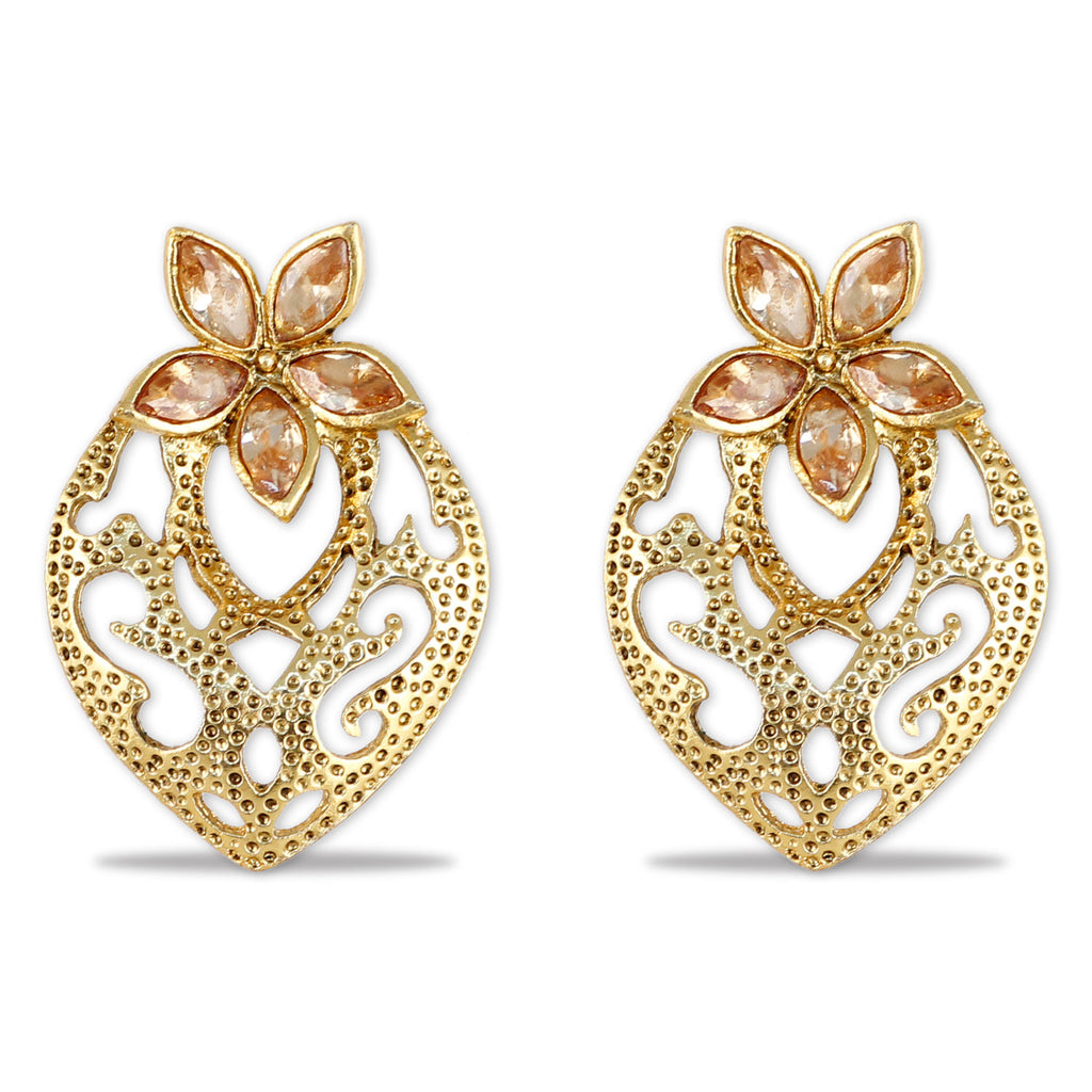 pink jhumkas amara buy online at label earrings work by jhumka imitation jivaana product pearl