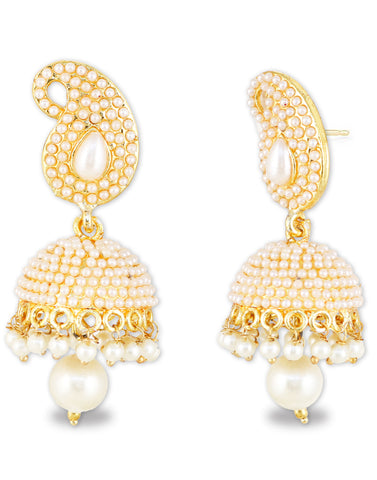 Pearl in Paisley Earrings