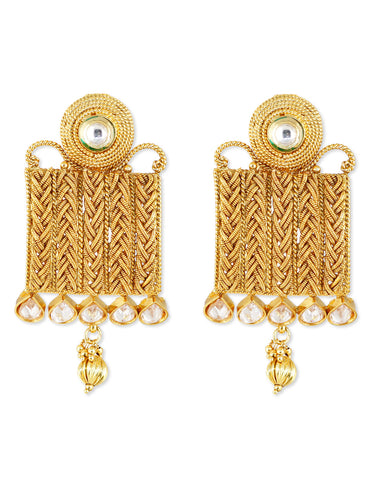 Traditional Designer Earrings With Crystals