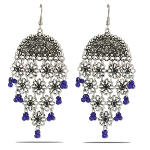 Karatcart Afghani Tribal Oxidised Dangler Stylish Fancy Party Wear Light Weight Dangler Earrings For Women