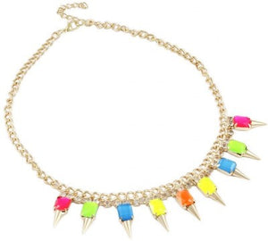 Karatcart Spiky Head Neon  Alloy Necklace