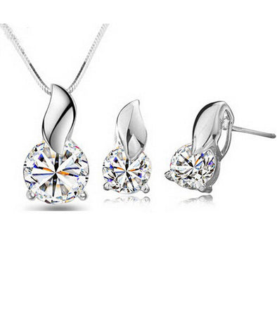 Platinum Plated American Diamond Studded Pendant