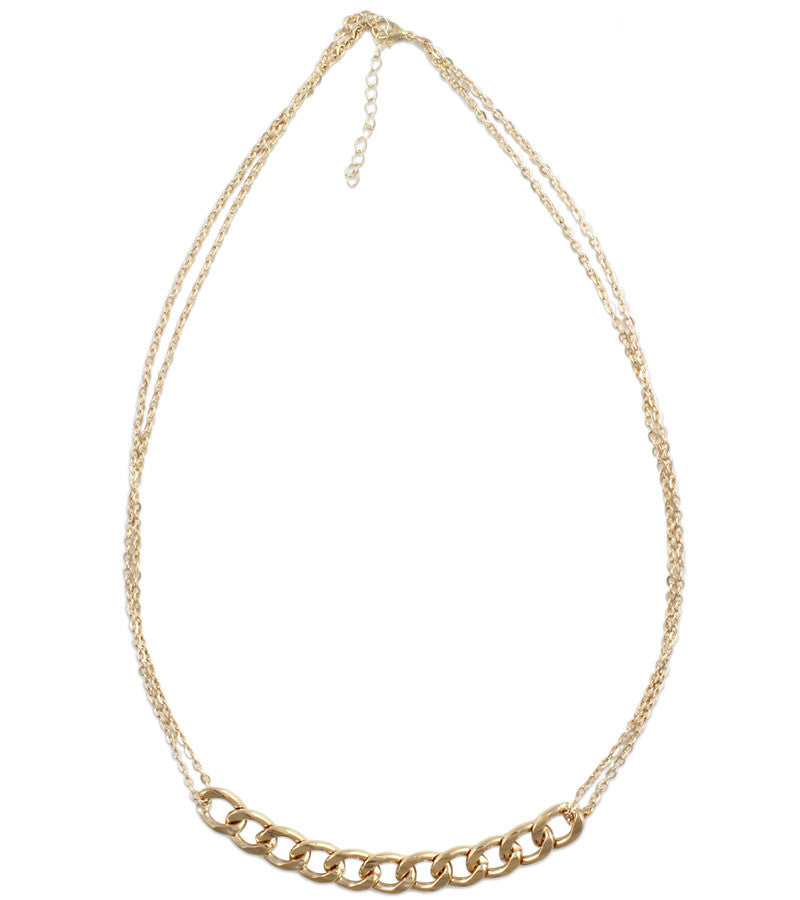 Gold Metallic Statement Necklace