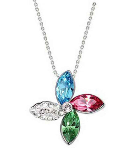 Karatcart Platinum Plated Elegant Austrian Crystal Pendant For Women