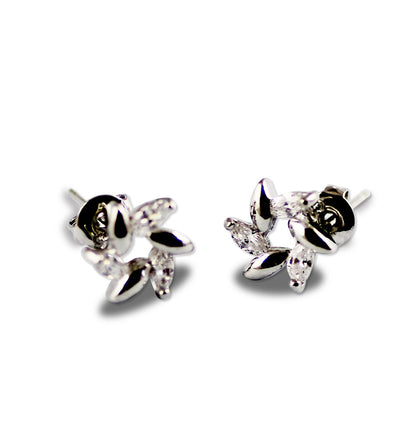 Platinum Plated Crystal Workwear Stud Earrings