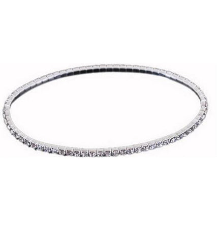 Platinum Plated Crystal Anklet