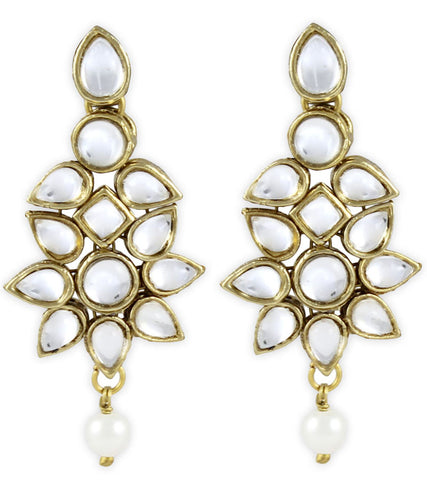 Flowery Kundan Earrings