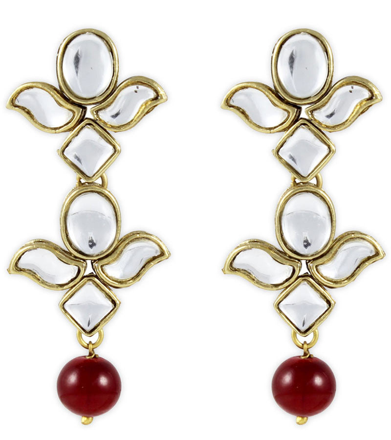 Red Eros Kundan Earrings | Buy Red Eros Kundan Earrings Online