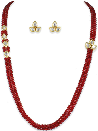 Mia Collection Traditional Kundan Rani Haar Necklace Set
