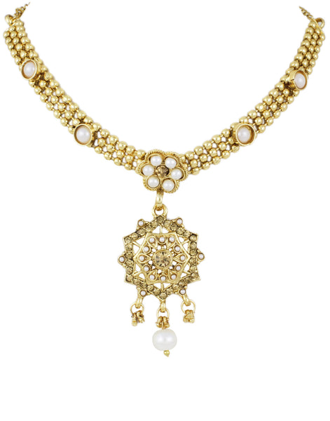 22K Goldplated Traditional Jewellery Set by Karatcart