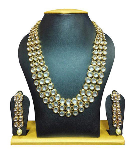 Karatcart Anushka Sharma Bollywood Inspired Kundan Necklace Set