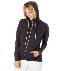 Ladies Mountain Logo Hoodie - Black