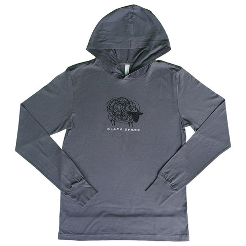Ladies Mountain Logo Hoodie - Grey