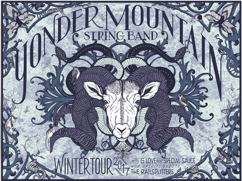 2017 Winter Tour Poster by Marisa Ware