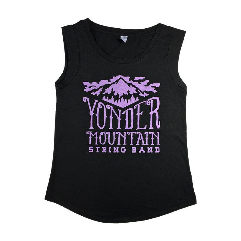 Ladies Cap Sleeve Mountain Logo T-shirt