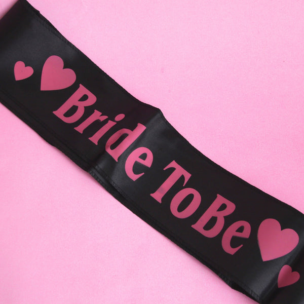 Black bride-to-be sash