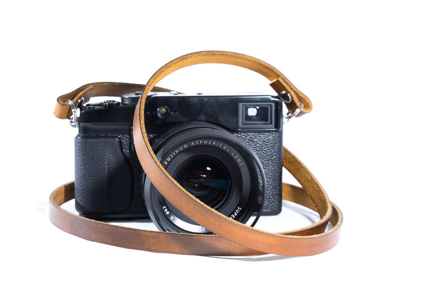 Classic BROWN Leather Camera Neck Strap Hit the Store