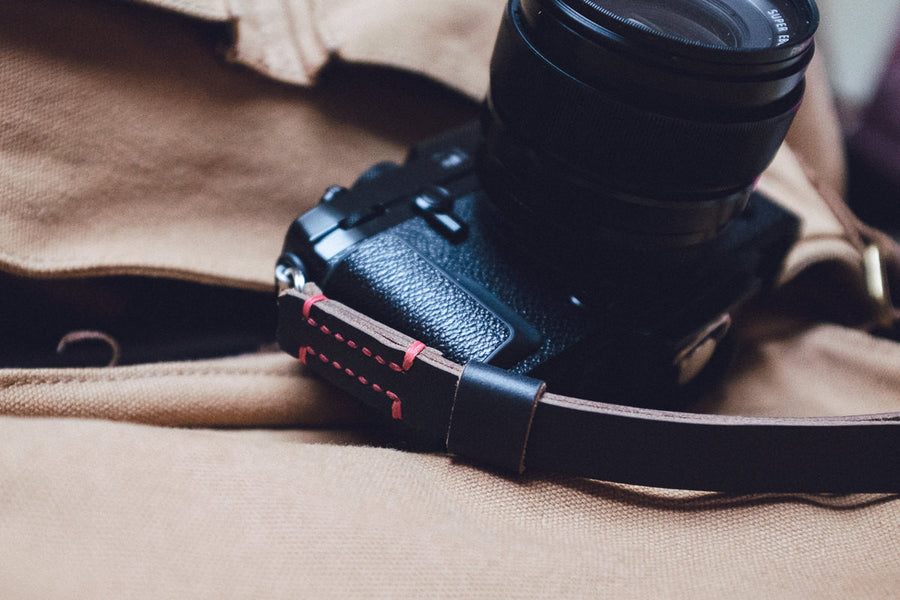 Horween Chromexcel Leather Camera Wrist Straps