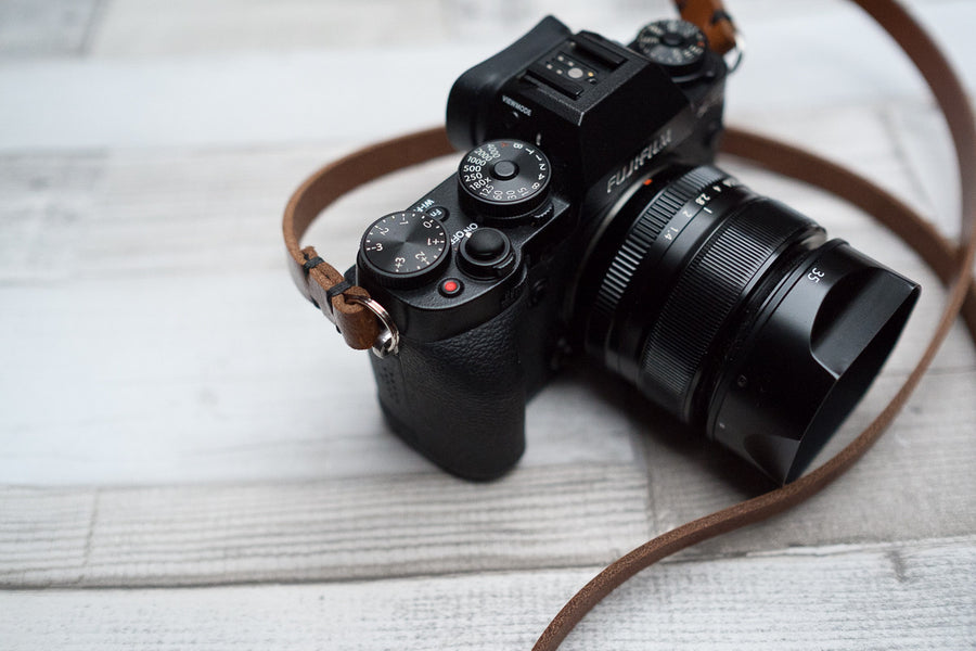 RF Rivet Free Leather Camera Neck Straps