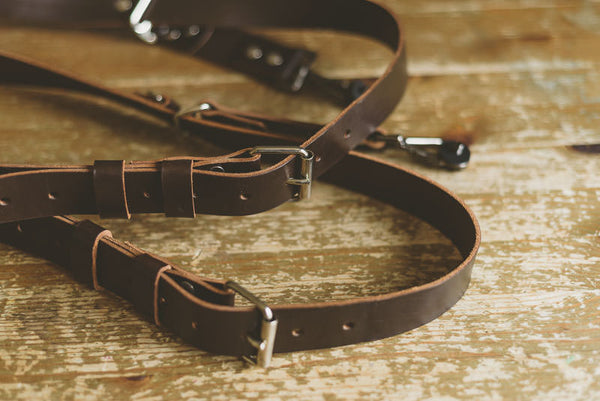 Custom Made Dual Leather Camera Strap