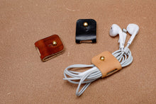 Load image into Gallery viewer, Leather Cable And Headphone Organisers