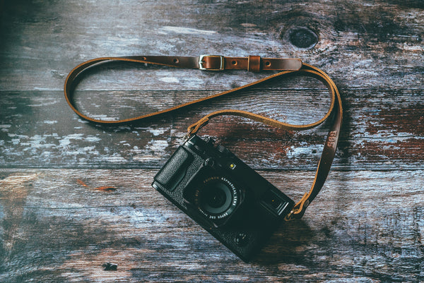 ADJUSTABLE - Premium Leather Camera Strap
