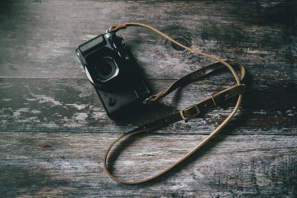 ADJUSTABLE - Leather Camera Strap