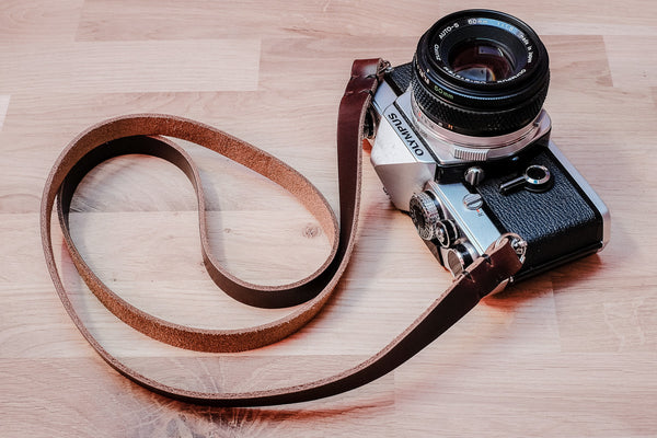 The Nebula HL Thin Leather Camera Straps