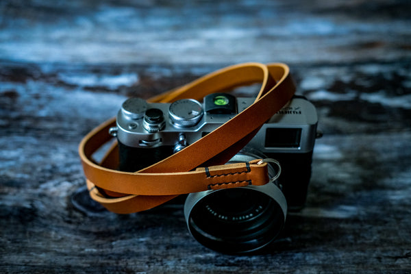 Stitched Classic Leather Camera Strap