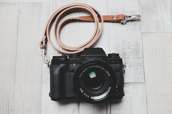 Quick Release Leather Camera Neck Straps | 595strapco - 1