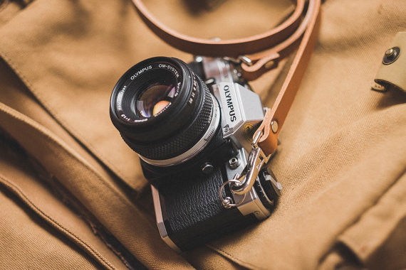 Quick Release Leather Camera Neck Straps | 595strapco - 4