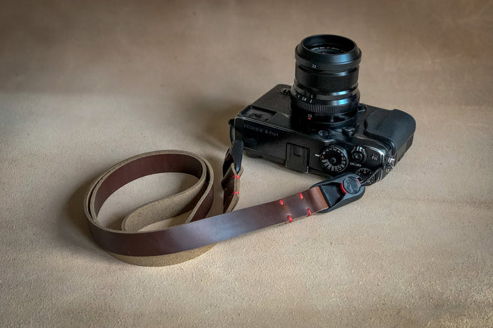 QR ANCHOR STRAP - Leather Neck Strap