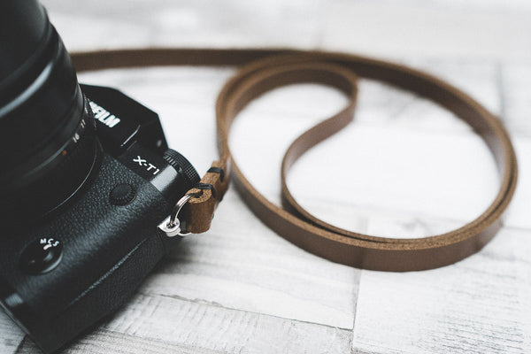 Rivet Free Leather Camera Neck Straps | 595strapco - 3