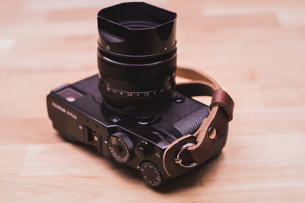 Sterling Leather Camera Wrist Strap