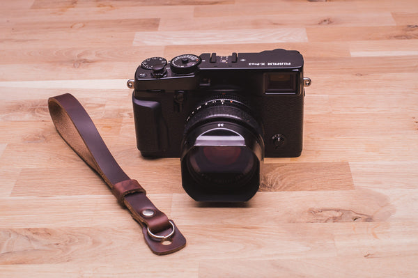 The Sterling Leather Camera Wrist Strap